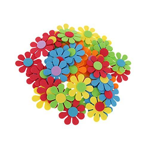 generic-lot-de-50pcs-fleur-mixte-mousse-enfants-decoration-artisanat-bricolage-diy