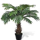 Anself Kunstpflanze Zimmerpalme Künstliche Palme mit Topf 80 cm
