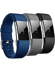 Fitbit Charge 2 Correa, Hanlesi carcasa blanda de TPU silicona ajustable Deporte Correa De Banda De Repuesto Para Pulsera Fitbit Charge 4 SmartWatch Heart Rate Fitness Band