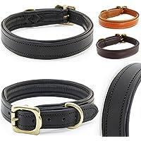 [Gesponsert]Classic-Line von Pear Tannery: Hundehalsband aus weichem Vollrindleder, XXS 26-36 cm, schwarz