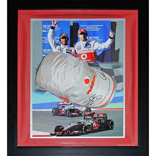 Spirit of Sport Michael Schumacher Baseballmütze mit Autogramm, offizielles Ferrari Dome Frame