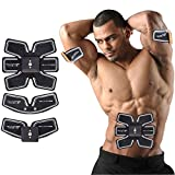 Jingfude ABS Formation Abdominal Musculaire Training Electrostimulateur EMS Body Tonification Gear Fit Ceinture Gym Machine, Smart Home Fitness Appareil pour Hommes et Femmes