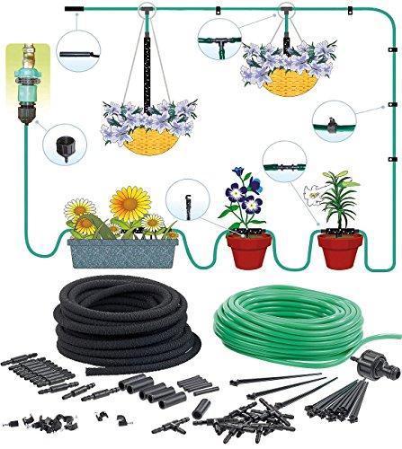 Royal Gardineer Mini Bewässerungssystem: Pflanzen-Bewässerungs-System für Balkon, Terrasse, Gewächshaus 15-Fach (Pflanzen Bewässerungssystem Balkon)