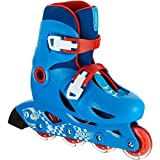 Oxelo Red Fabric Play 3 Inline Skates Shoes - UK 1.5/3