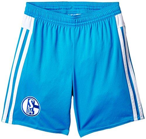 Adidas Shorts Schalke 04 Away Pantalón Corto, Hombre, Azul/Blanco, 164