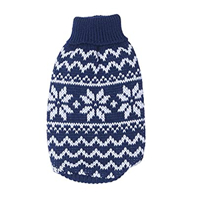 Bulary Dog Cat Puppy Durable Fashion Cute Winter Clothes Pet Dogs/Cats Snowflake Pattern Sweater Keep Dogs/Cats Warm in Winter