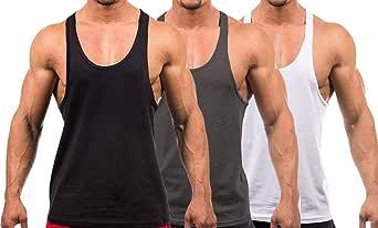 Men's Stringer Gym Tank Top Shirt Print Cotton Bodybuilding Sport Vest