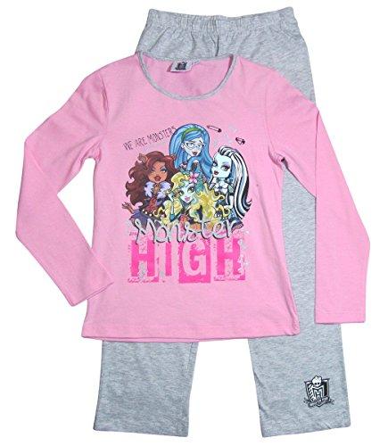 Monster High Pyjama Kollektion 2017 Schlafanzug 122 128 134 140 146 152 Schlafbekleidung Mädchen Lang (122 (Monster Kleid High)