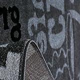 Teppich Modern Flachgewebe Sisal Optik Küchenteppich Küchenläufer Coffee Grau Weiss Schwarz Töne – VIMODA, Maße:60×100 cm - 2