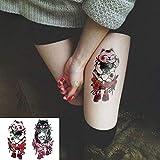 tzxdbh Autoadesivo del Tatuaggio temporaneo Impermeabile Amore Bambola Mascotte Falso Tatto Tatuaggio tatouage temporaire Adesivi per Le Donne Ragazza