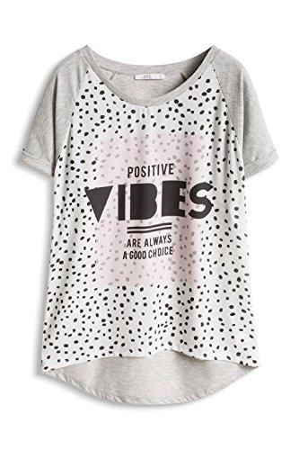 edc by ESPRIT Damen T-Shirt Grau (MEDIUM GREY 035)