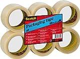 Scotch KT000032724 Packaging Tape, 50 mm x 66 m - Clear, 6 Rolls