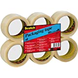 Scotch KT000032724 Packaging Tape, 50 mm x 66 m - Clear, 6 Rolls