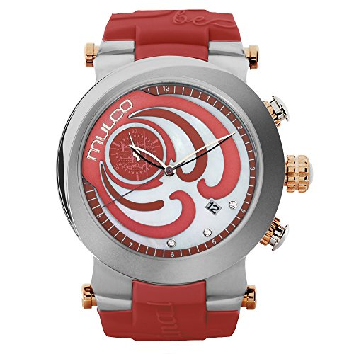 Mulco Women's MW3-16191-533 Windrock Coral Silicone Strap Watch