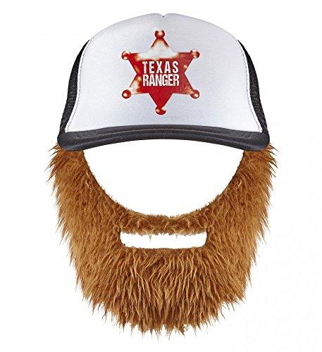 shoperama Chuck Norris Texas Ranger Basecap mit Bart Cap Mütze Hut Holzfäller Hipster ()