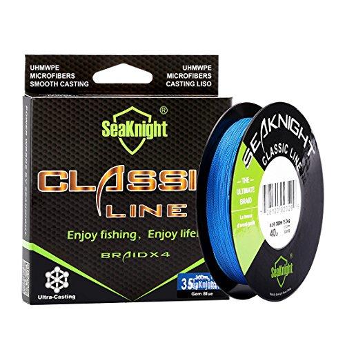 Seaknight | classic line | piu' sottile, piu' resistente | lenza da pesca | colore blu | 6 lb | 0.08 mm | 300 mt