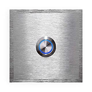 Türklingel - inkl. Gravur-Service - LED-beleuchtet - aus Edelstahl V2A - Klingel-Platte - Maße: 60 x 60 mm (ohne Gravur)