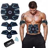 ACTOPP Elettrostimolatore Muscolare EMS Trainer Tonificante Cintura Addominale Portatile per Addome Gambe Braccio Vita Ricaricabile con Cavo USB 25 Intensità Senza Fili