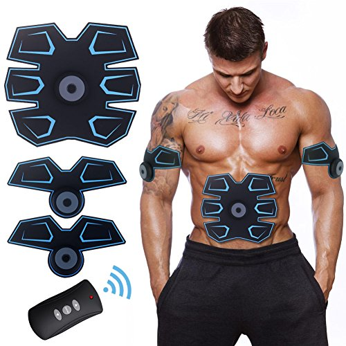 ACTOPP Muskelstimulator USB EMS Gerät Elektrostimulator Training Gerät Elektrostimulatoren Damen Herren Elektrisch Muskelstimulation Muskeltrainer Muskelaufbau Bauch Arm Massage Gerät Home Fitness