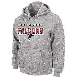 NFL Atlanta Falcons Poly Fleece HD Gel Print Pullover Hoody, 4X/Tall, Heather Grey