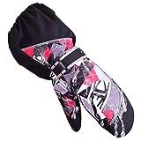 TRIWONDER Wasserdichte Handschuhe für Kinder im Freien von 3-12 Jahren (schwarz, XS (5-7 Jahre))