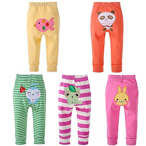 danrol Baby Mädchen Porzellanperlen Cartoon Pants Set 100% Baumwolle Gr. 24 Monate, mehrfarbig