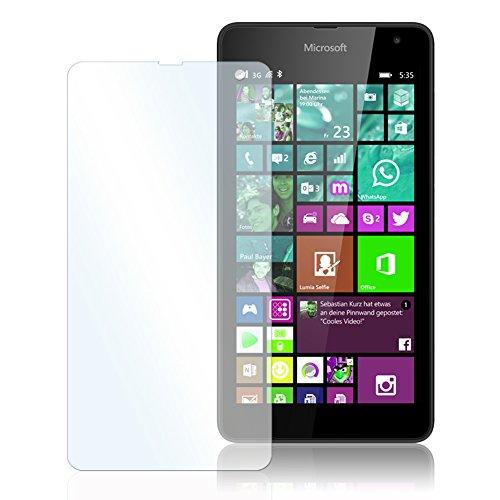 Microsoft Lumia 535 Echt Glas Folie Displayglas Echtglasfolie Schutzglas für Display extrem kratzfest 9H bruchsicheres Panzerglas selbstklebend tempered Glass Screen Protector perfekter Schutz Displayschutzfolie von UC-Express®