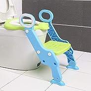نونية الأطفال للتدريب على قضاء الحاجة مع سلم قابل للتعديل مقعد مرحاض للأطفال ومقعد قابل للطي للتدريب على المرح