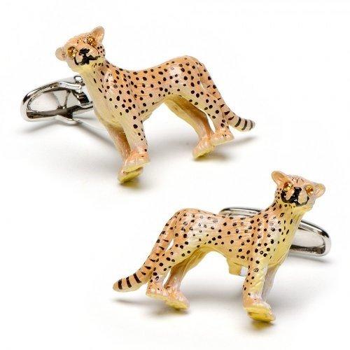 ProCuffs Cheetah Cat Boutons de Manchette Animal Safari Zoo Keeper Wildlife + Boîte et Aspirateur