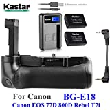 Kastar Pro Multi-Power Vertical Battery Grip + 2X LP-E17 Replacement Batteries + LCD USB Charger Kit For Canon EOS 77D, EOS 800D, Rebel T7i, Kiss X9i Digital SLR Cameras