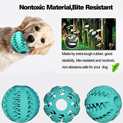 Idepet Hund Spielzeug Ball, ungiftig Bite resistent Spielzeug Ball für Hunde Welpen, Hundefutter Treat Feeder Zahn Reinigung Ball, Hunde Übung Spiel Ball IQ Training Ball - 5