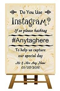 A4 Motif Instagram Affiche personnalisée pour mariage Inscription