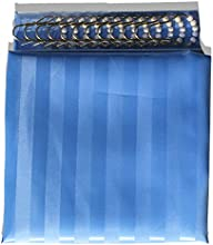 Cortina de ducha de nailon azul claro calidad premium 180cm x 180cm (72