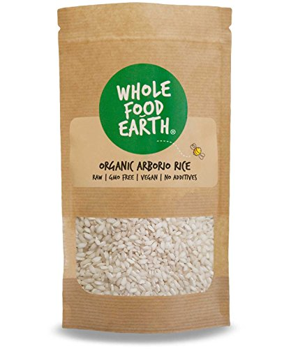Wholefood Earth: Organic Arborio Rice 1kg | Raw | GMO Free | Vegan | No additives
