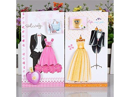 Yyanliii Mehrere 8 Stück Hochzeitskleid Grußkarten mit Umschlägen Einladungskarten Geschenkkarten...