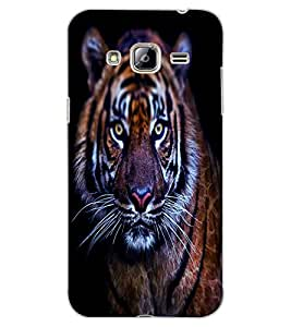 ColourCraft Scary Tiger Look Design Back Case Cover for SAMSUNG GALAXY J3 (2016)