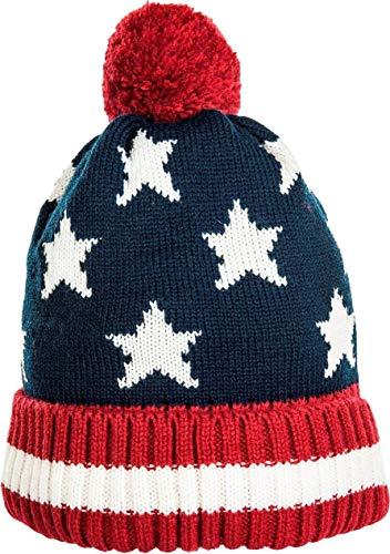 HKM Pudelmütze -Stars & Stripes-, rot/dunkelblau, Unisize (Stripes-flagge Stars And)