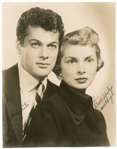 TONY CURTIS, JANET LEIGH SIGNED PHOTO PRINT DIMENSIONI 30,48 X