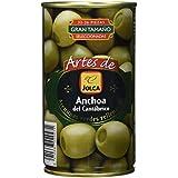 Jolca - Aceitunas Rellenas De Anchoa Del Cantábrico Lata 350 g - [Pack de 6]