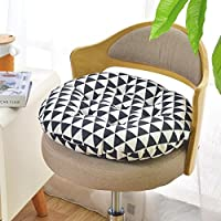 YD Redondo Espesar Tatami Cojin para Silla, Oficina Antideslizante Respirable Cojines para sillas Lavable Silla de Comedor Cojin para Silla Modelo-O 50x50cm