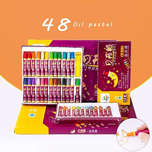 Ölpastelle 48/36/24 Buntstifte 48 Farben - Pappteller Und Grau Gelb