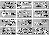 ID Türschild mit Bildern und Gravur nach Wunsch Namensschild Edelstahl 5 Größen (80x40 mm)