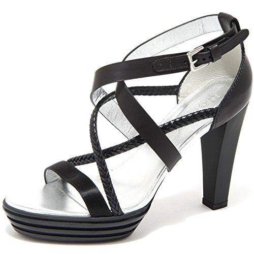 sandalo HOGAN OPTY FASCE TRECCIA scarpa donna shoes women 48892 Nero