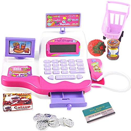 ZJL220 Creative Kid Toy Pretend Play Supermarket Cash Register Scanner Checkout Counter (Cash Register Scanner)