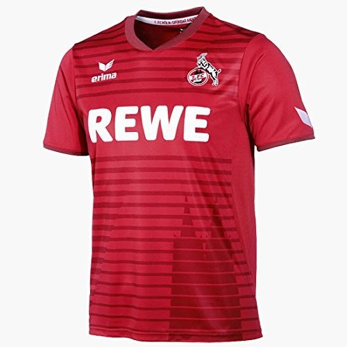 Erima 1.FC Köln 2017/2018 Auswärtstrikot Kinder, rot, 164