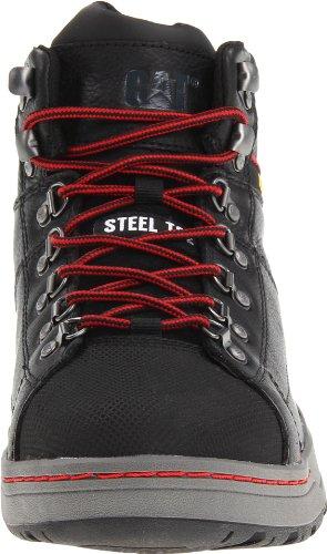 Caterpillar Mens Brode Hi Steel Toe Skate Shoe Black