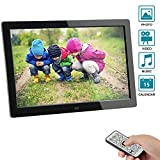 Digital Photo Frame,2019 Newest Digital Picture Frame SSA 8 inch 1280 x 800 High Resolution Full IPS Photo/Music/Video Player Calendar Alarm Auto On/Off Timer, Unique Interface Design & Remote Control