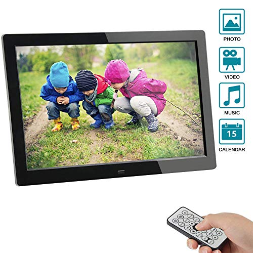 Digitaler Bilderrahmen, SSA 8 Zoll 1280x800 Hohe Auflösung Full IPS Foto/Musik/Video Player Kalender Alarm Auto on/Off Timer, Ultra Slim Design mit Fernbedienung -