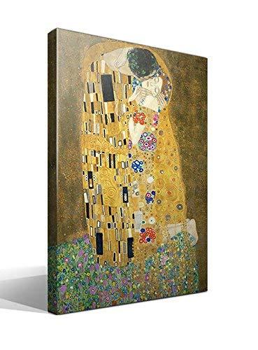Cuadro Canvas El Beso de Gustav Klimt - Ancho: 70cm - Alto: 95cm...