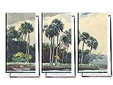 Unified Distribution Winslow Homer - Rotes Hemd, Homosassa, Florida - Klassisches Gemälde - Replik auf Leinwand Dreiteiler (120x80 cm)